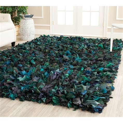 Shag Green Rug by Safavieh Shag Green Multi 6 Ft X 9 Ft Area Rug Sg951a 6 The Home Depot