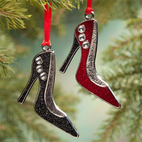 high heel shoe ornament shoe christmas ornament miles