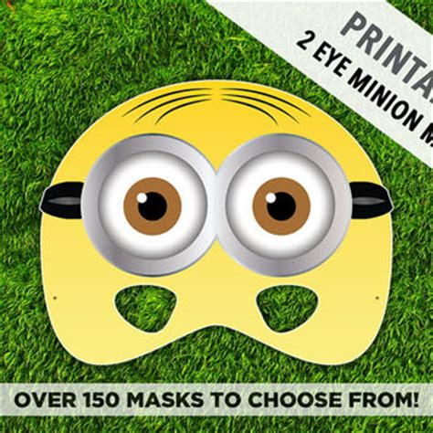 minion mask template printable minion mask 2 eye minion from therasilisk
