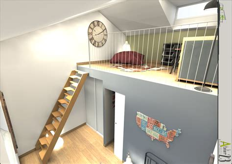 Chambre Avec Mezzanine by Beautiful Mezzanine Chambre Comble Ideas Awesome