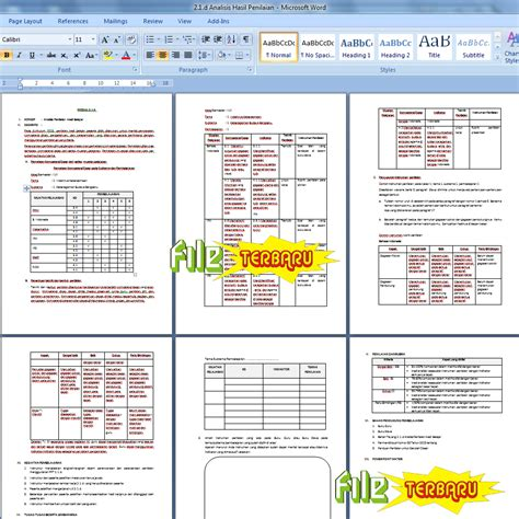 format 1 hasil evaluasi diri terhadap kompetensi guru analisis hasil belajar kurikulum 2013 edisi revisi 2016