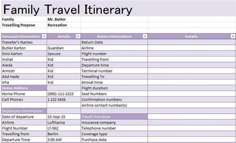 30 Itinerary Templates Travel Vacation Trip Flight How To Make Travel Itinerary Template
