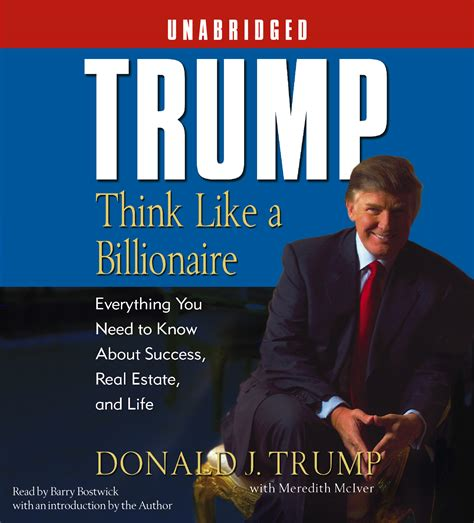 donald trump biography book pdf trump think like a billionaire audiobook by donald j
