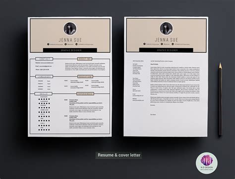 2 Page Resume Template by Modern 2 Page Resume Template On Behance