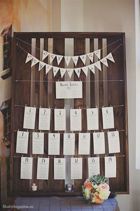 rustic themed wedding seating plan 11 best seating charts images on seating