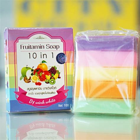 Frutamin 10 In 1 Soap By Wink White Original Thailand Bk1001 12 x fruitamin soap 10 in 1 skin whitening brightening by wink 100g track ebay