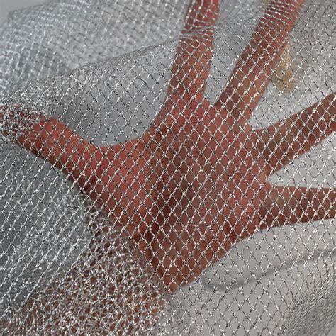 Decoration Net Material by Silver Net Mesh Fabric Warp Knitting Mesh Fabric Fishing
