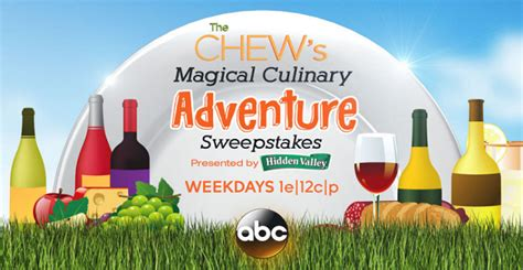 The Chew Sweepstakes 2017 - the chew disney magical culinary adventure sweepstakes