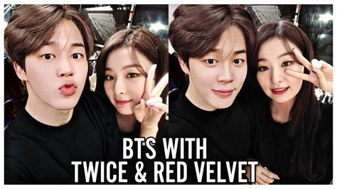 twice and bts bts with twice red velvet youtube