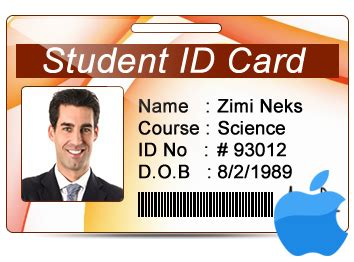student id card template png student id cards maker for mac design student id