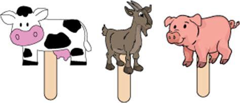 printable animal stick puppets farm animal preschool activities and printables kidssoup
