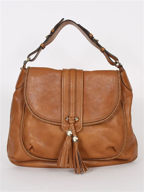 Guc Ci Leather Brown gucci marrakech brown leather shoulder bag luxury bags