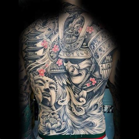 japanese back tattoos 50 japanese temple designs for buddhist ink ideas