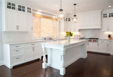 Kitchen Island Leg Island With Baluster Legs Transitional Kitchen