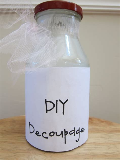Decoupage Modge Podge - easy diy modge podge products i
