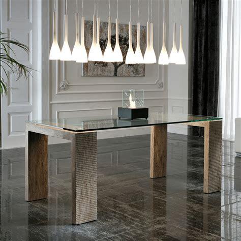tavolo pranzo design tavolo da pranzo di design millerighe 2 con top in vetro