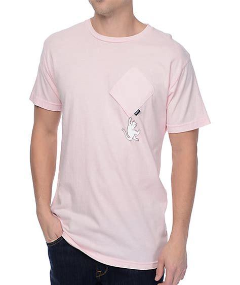 Tshirt Ripndip ripndip hang in there pink pocket t shirt