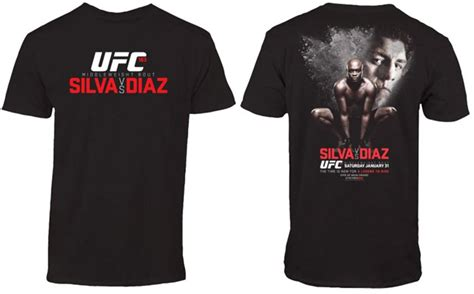 Kaos Ufc Ufc Logo 01 ufc 183 silva vs diaz event shirt fighterxfashion