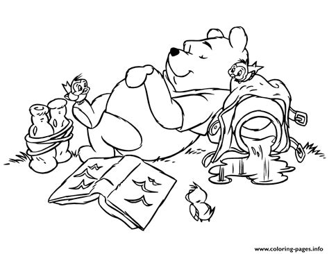 lazy person coloring page lazy winnie the pooh sb6d1 coloring pages printable