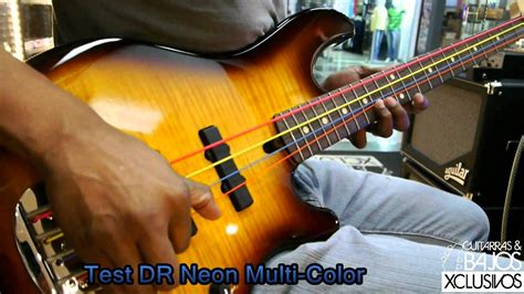 colored bass strings test dr neon multi color strings
