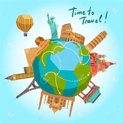 Around The World For Free travel clipart earth pencil and in color travel clipart