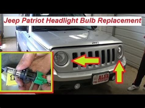 Jeep Wrangler Bulb Size Jeep Patriot Headlight Bulb Replacement 2007 2015