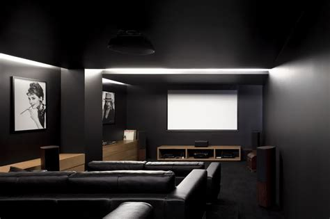 astonishing interior home theater design ideas with black