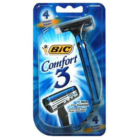 bic comfort 3 bic comfort 3 razor for men 4 pack mountainside medical