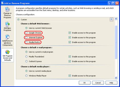 wordpress tutorial using xp change the default browser for windows xp