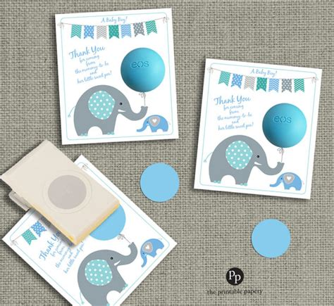 template for baby shower favors elephant eos baby shower favor template baby shower