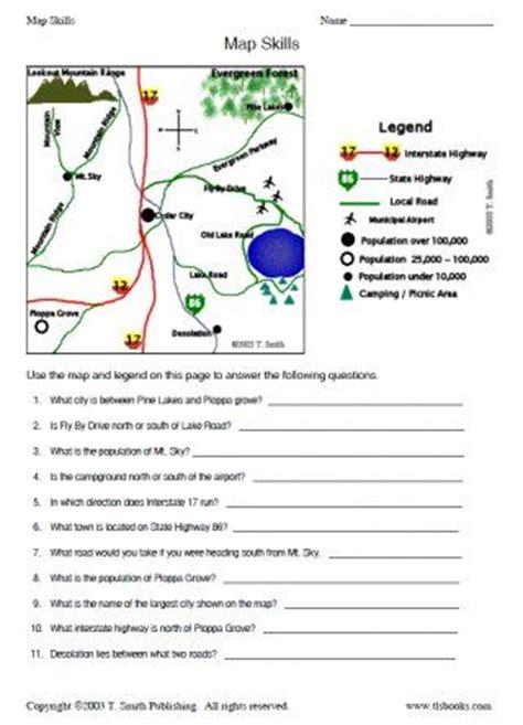 printable map key worksheets snapshot image of map skills worksheet 2 homeschool