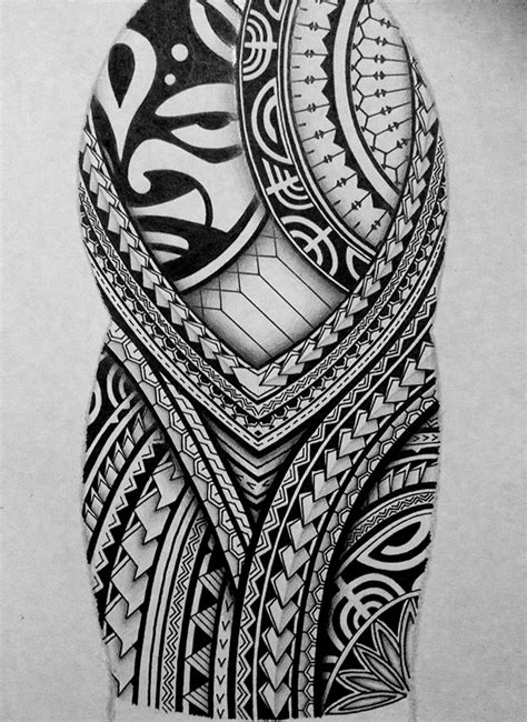 polynesian half sleeve tattoo design on behance