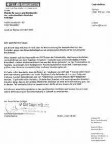 Beschwerdebrief Muster Telekom Fluxus On Quot Pressefreiheit Eingeschr 228 Nkt Der
