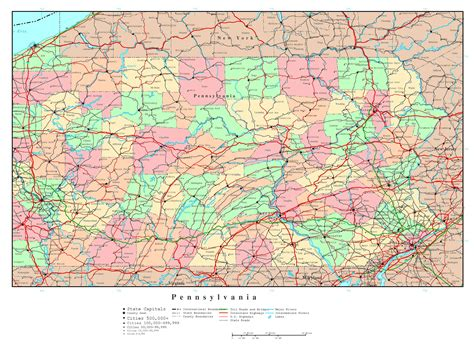 map usa pennsylvania large us map with major highways images