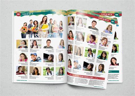 Yearbook Template Design Vol 1 By Hiro27 Graphicriver Free Yearbook Template