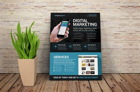 digital flyer templates digital marketing flyer psd flyer templates on creative