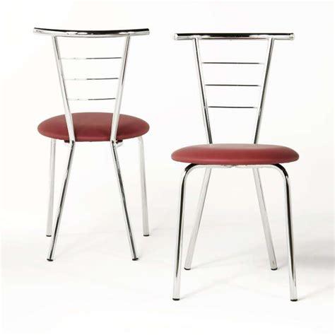 chaises cuisine couleur chaise de cuisine en m 233 tal val 233 rie 4 pieds tables