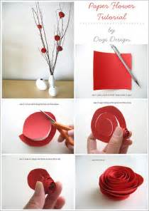 How To Make Easy Paper Flowers - make quick and easy paper roses 187 curbly diy design amp decor