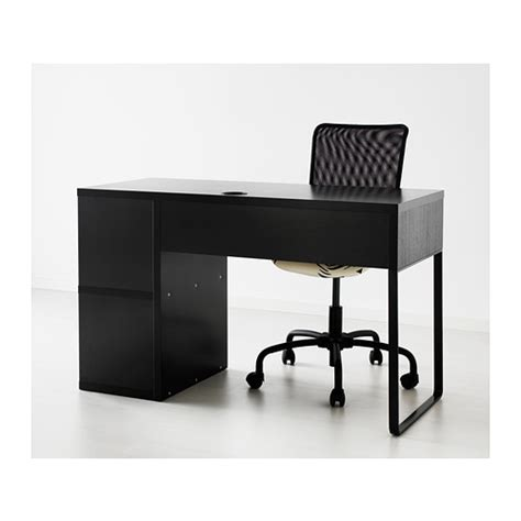 micke desk with integrated storage black brown from ikea