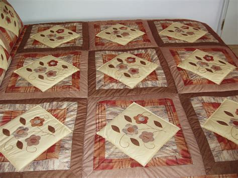 Patchwork Quilt Shop - quilt velours braun