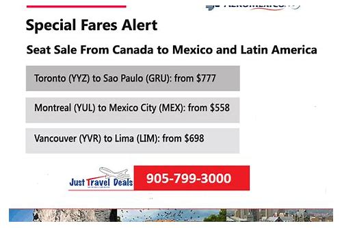 travel deals to mexico from toronto