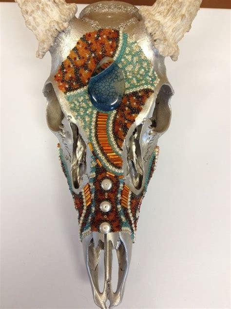 whitetail beaded deer skull