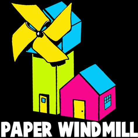 How To Make Paper Windmills - how to make a folded paper windmill crafts