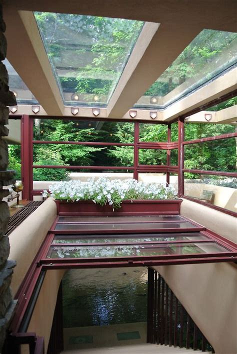 frank lloyd wright falling water interior to the window to the wall an inspiring look at steel