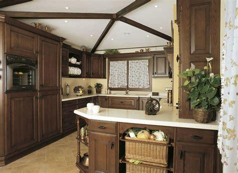 foto cocinas fotos de cocinas de madera estilo clasico diseno casa
