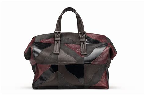 bottega veneta mixed leather patchwork duffle bag