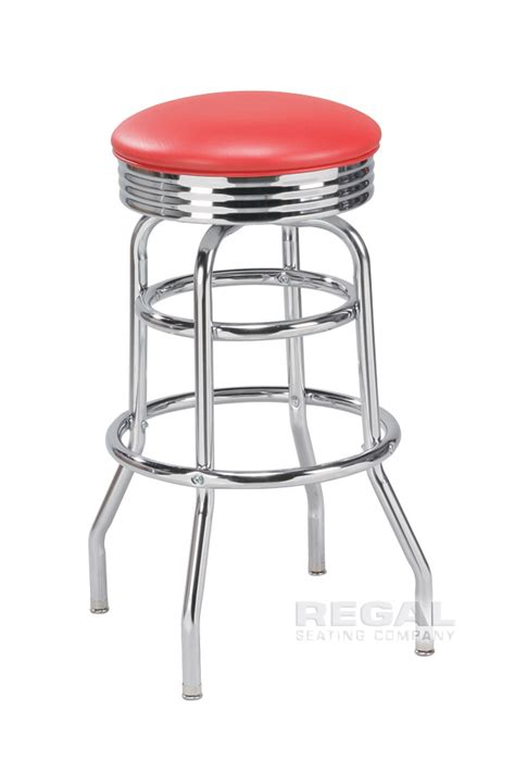 50s Bar Stools Chrome by Chrome Bar Stool