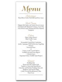 Festive event menu