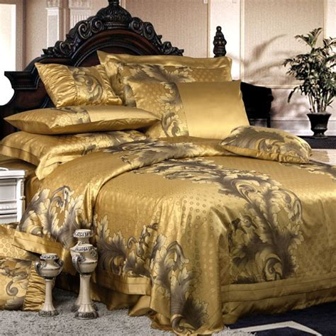 luxurious bedding 8 pieces silk luxury bedding sets set40