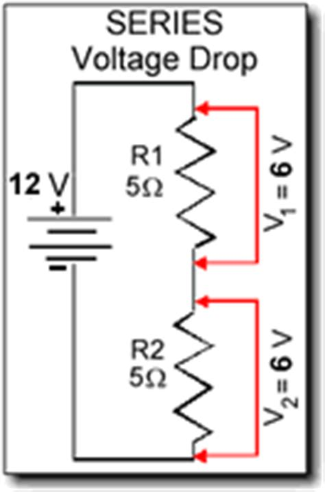 voltage drop at a resistor electrical electronic series circuits